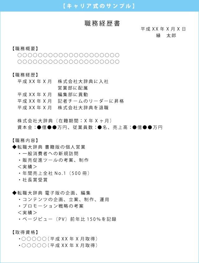職務経歴書_キャリア式