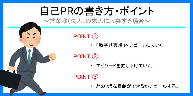 自己PRの書き方・ポイント~営業職の場合~